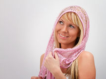 Blonde avec le voile Photo libre de droits