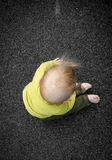Blonde baby boy in playground Royalty Free Stock Images