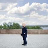 Blonde baby boy Royalty Free Stock Images