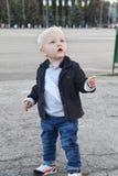 Blonde baby boy Stock Photos