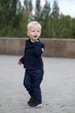 Blonde baby boy Stock Photography