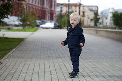 Blonde baby boy Stock Images