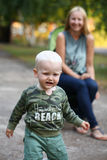 Blonde baby boy Royalty Free Stock Photography