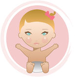 Blonde baby girl Stock Photography