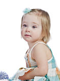 Blonde baby girl Royalty Free Stock Images