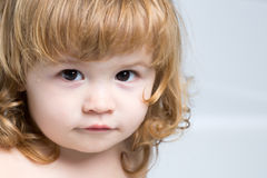 Blonde Babynahaufnahme Stockbilder