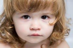 Blonde Babynahaufnahme Stockfoto