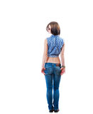 Blonde backview isolated full body Stock Photography