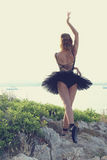 Blonde Ballerina Lizenzfreies Stockbild