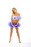 Blonde ballet dancer Royalty Free Stock Image