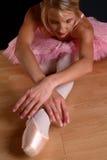 Blonde Ballettausdehnung Stockbild