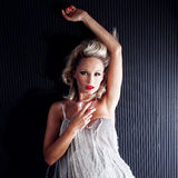 Blonde beautiful woman posing Royalty Free Stock Photos