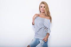 Blonde beautiful woman posing. Stock Photography