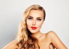 Blonde Beauty. Cute Woman Stock Photography