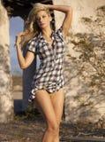 Blonde Beauty in Desert Royalty Free Stock Image