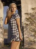 Blonde Beauty in Desert Stock Photography