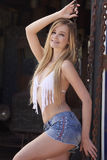 Blonde Beauty at Ranch Stock Photography