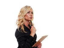 Blonde bedrijfsvrouw Royalty-vrije Stock Fotografie