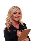 Blonde bedrijfsvrouw Stock Afbeelding