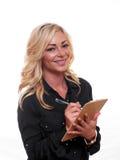 Blonde bedrijfsvrouw Royalty-vrije Stock Foto's