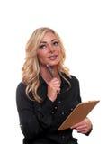 Blonde bedrijfsvrouw Royalty-vrije Stock Afbeeldingen