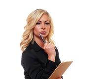 Blonde bedrijfsvrouw Royalty-vrije Stock Foto