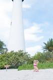 Blonde behaarte Frau an einem Florida-Strand Lizenzfreie Stockbilder
