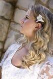 Blonde behaarte junge Braut Stockfotografie