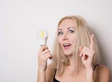 blonde besuchte Idee Lizenzfreies Stockfoto