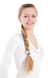 Blonde with big braid Royalty Free Stock Photography