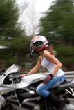 Blonde Biker Girl Stock Photos
