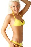 Blonde bikini fashion stock image