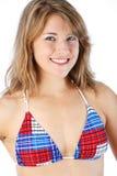 Blonde bikini portrait Stock Image