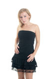 Blonde in a black dress Royalty Free Stock Photo