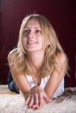 Blonde blauw-ogen Royalty-vrije Stock Foto