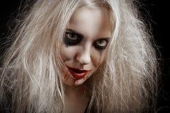 Blonde blutige Hexe Stockbild