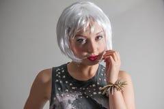 Blonde bob Royalty Free Stock Photography
