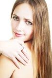 Blonde bonito de cabelos compridos Fotos de Stock