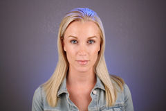 Blonde bonito, Headshot (1) foto de stock royalty free