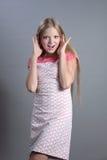 Blonde bonito surpreendido Foto de Stock Royalty Free