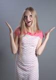Blonde bonito surpreendido. Imagem de Stock Royalty Free