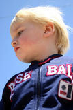 Blonde boy. Closeup of blonde boy standing Royalty Free Stock Photo