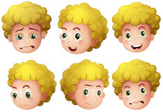 Blonde boy. Illustration of a blonde boy's head royalty free illustration
