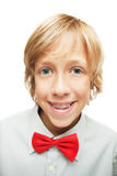 Blonde boy with tooth braces Stock Photo