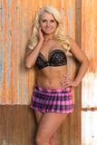 Blonde in bra and skirt Royalty Free Stock Photo
