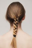 Blonde braid Stock Photo