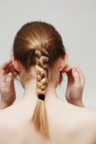 Blonde braid Stock Photos