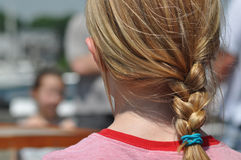 Blonde Braided Hair Stock Photo