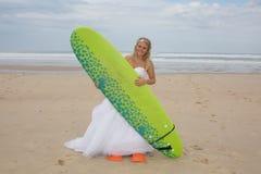 Blonde Brautfrau Lizenzfreies Stockfoto