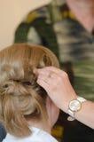 Blonde Brautfrisur Lizenzfreies Stockfoto